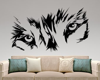 Wolf Wall Decal Etsy