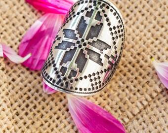 "Ukrainian silver ring, ukrainian jewelry, jewelry Ukraine, gift from Ukraine, made in ukraine, from ukraine, Ring ""Energy"""
