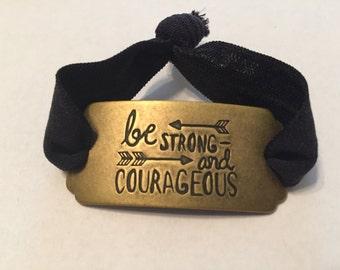 Be Strong Burnished Gold Bracelet