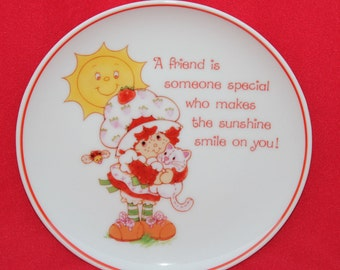 Vintage Strawberry Shortcake Porcelain Decorative Plate