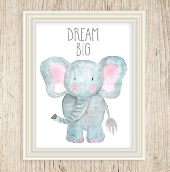 Watercolor Elephant Art, Safari Animal Nursery, Nursery Art Prints, Safari Nursery Ideas, Jungle Nursery, Safari Theme Nursery, Baby's Room