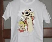 Calvin and Hobbes t shirt Cartoon shirt Anime Shirt Mens Shirts Womens Tee Shirts Anime Gifts Manga Shirt Christmas Gifts Birthday Otaku n2