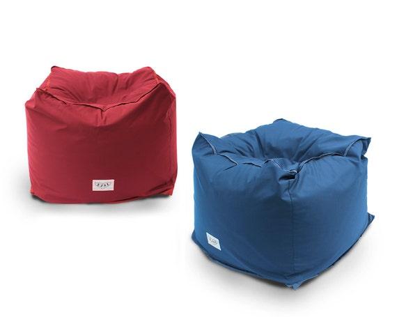 Soft pouf ottoman tuffet handcrafted waterproof or - Pouf piscine waterproof ...