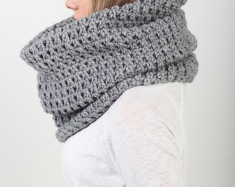 Chunky Cowl Scarf, Shawl Hood, Hood scarf, Crochet hood scarf, Snood scarf, Knit hood, Hooded scarf, Crochet cowl, Knit cowl, Gift for Her