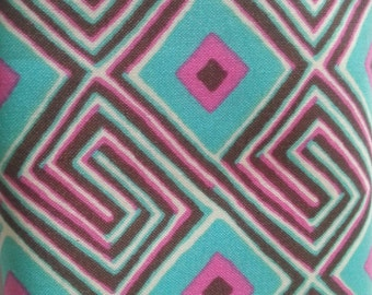 Amy Butler Fat Quarters -Glow by Amy Butler Maze Print Turquoise Brown Pink