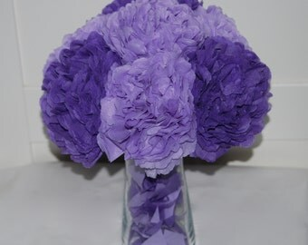 purple Wedding centerpiece, Paper flowers bouquet, purple, wedding decorations, wedding table decor, centerpiece, bridal party decor