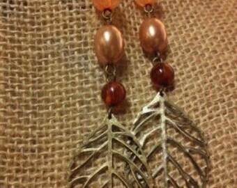 2 INCH LEAF earrings