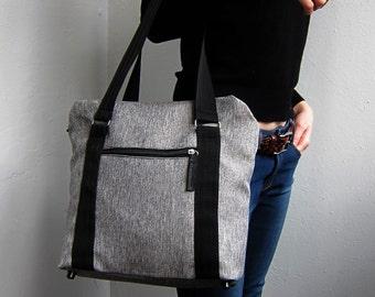 Cross Body Bag, Messenger Bag, Office Bag, Grey Shoulder Bag, Grey Top Handle Bag, Handbag, Gift For Her