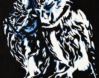 Owl Couple Original Painting