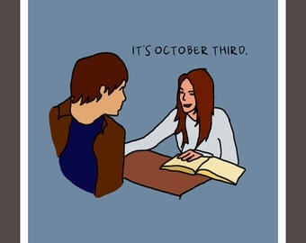 It's October Third - 8.5 x 8.5 poster