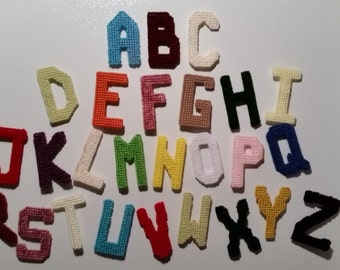 Alphabet magnets (one each)