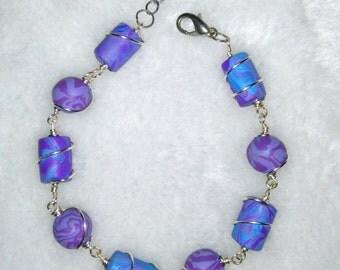Polymerclay wrap wire bracelet