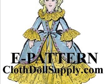 E-Pattern – 15 Inch Boudoir Doll Sewing Pattern #EP VP8