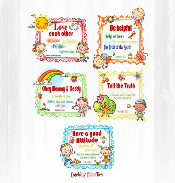 Bible verse wall prints nursery print christian wall art for Bible verses for kids rooms
