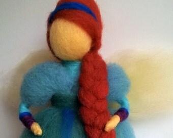 Needle felted teeth fairy doll-merino wool/waldorf doll