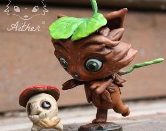 Kineko and mushroom spirit