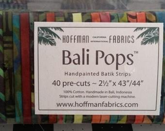"Bali Pops - Volcano - (40) 2.5"" Strips - Hoffman Fabrics"