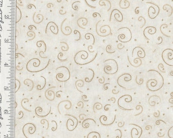 Cottage Basics - Per Yd -Red Rooster - Cream with Caramel Swirls