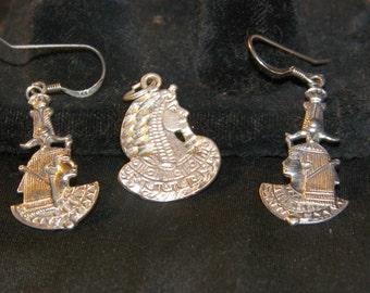 Sterling Silver Egyptian Pharaoh set