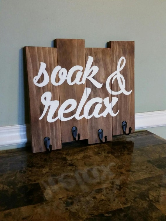 Soak Amp Relax Towel Rack Rustic Towel Holder Rustic By Cscbymeg