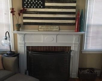 Distressed American Flag Wall Decor