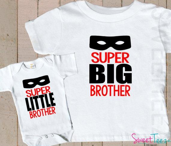 Super Hero Shirt SET Big Brother Little Brother Sibling Shirts