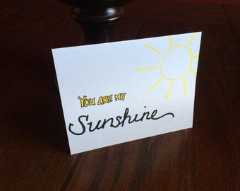 You are my sunshine card (blank inside)