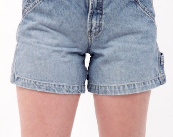 Union Bay LIght Wash Jean Shorts // 90s, vintage, high waisted, size 1, cotton, sporty