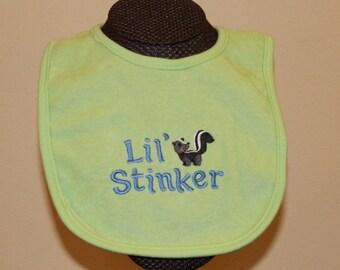 Lil Stinker Skunk Bib for Boys and Girls