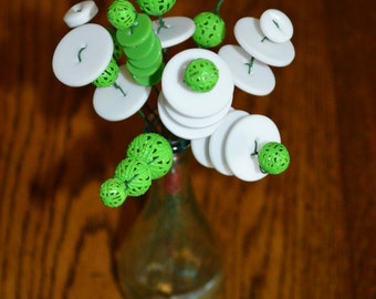 Green and White Flower Bouquet