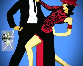 Tango! is a Giclee Print and /or a Trading Card