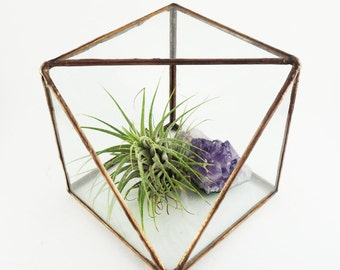 Sliced Cube Stained Glass Terrarium