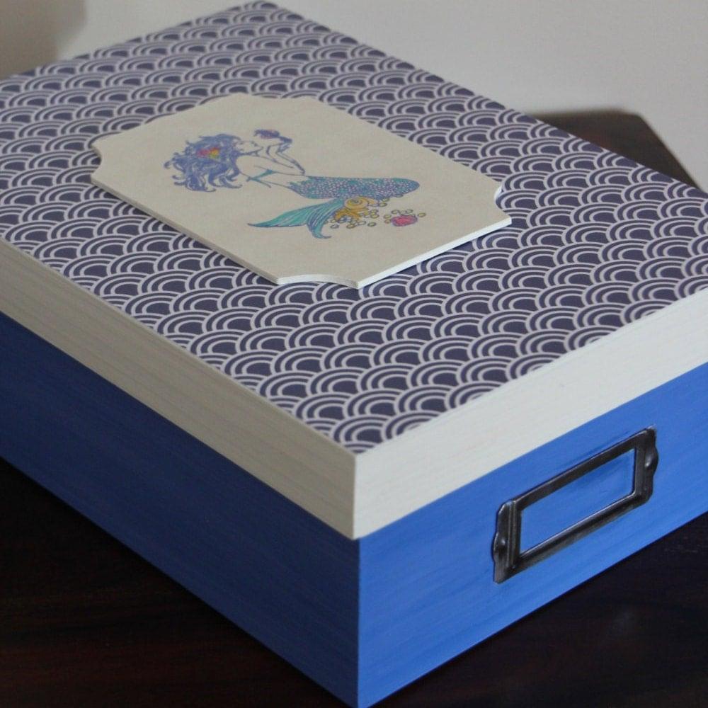 Decorative Keepsake Box: Mermaid Keepsake Box Memory Box Room Decor Decorative