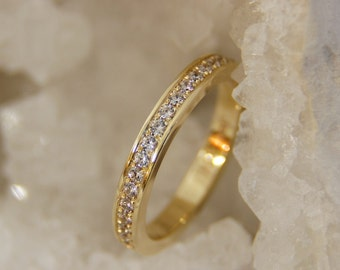 Memoryring/Alliance ring made of 585 gold with diamonds