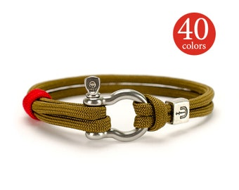 Nautical jewelry, Nautical bracelet, Sailor bracelet, Mens nautical, Beach bracelet with stainless steel clasp.
