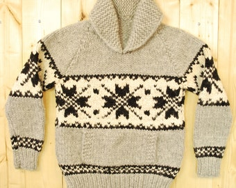Vintage 1970's/80's Snowflake COWICHAN Sweater / Pullover / Retro Collectable Rare