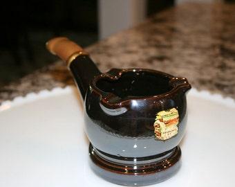 Hand Painted Pipe Shaped Ashtray//Niagara Falls Souvenir Ashtray//Vintage Ashtray