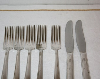 1954 MELODY Silver Plate//Lot of 7 Pieces//Pattern - Melody//Vintage Silverware