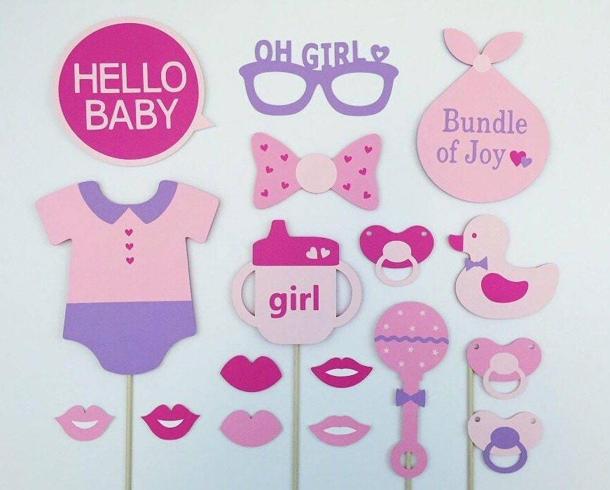 baby girl shower props baby shower party gift by raiseyourprops