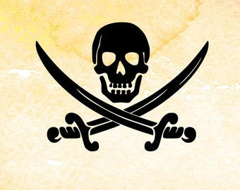 Pirate SVG file cutting template for silhouette, svg file for cricut, pirate birthday pdf, svg, vinyl tshirt design, pirate clip art svg