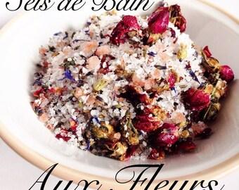 Flower bath salts / / Himalayan salt / / salt of Epsom / / Lavender & Eucalyptus / / Relaxation relaxation