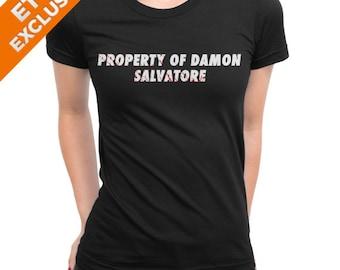 T-shirt Vampire diaries - Property of Damon Salvatore