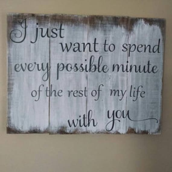 What To Spend On A Wedding Gift: Over The Bed Wood Sign Wedding Gift I Just By