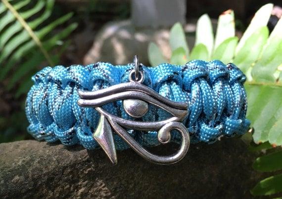 Eye of Ra Paracord Bracelet, Eye of Ra charm