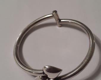 Sterling Silver .925 Hinged Bracelet Bangle