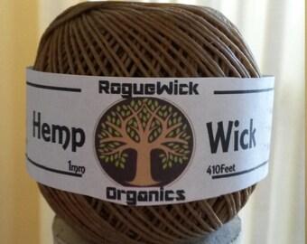 410 Feet Organic Hemp Wick W/Free Poker! 1mm Thickness