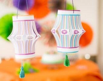 Paper Chinese Lanterns - PDF - DIY Decoration - Origami