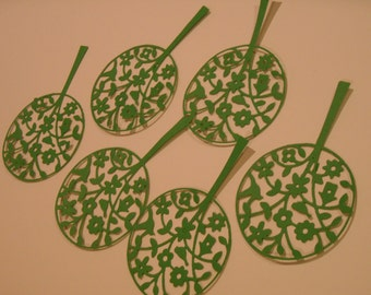 Die Cut Cardstock Lollipop Tree Embellishments, Cards, Scrapbooks, Gifts, Tags, Decorations