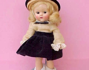 Adorable Original Painted Lash, Strung 1950's Vogue Ginny Doll