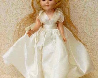 Little 1950's All Original Hard Plastic Bride Doll